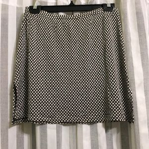 Black & White Mini Skirt